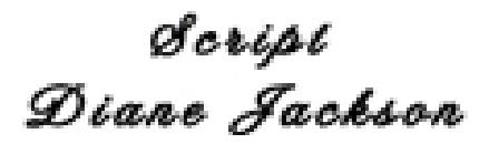 three dimensional composite font style script